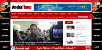 Swarakalibata V.3 Template Website Portal Berita AnekaTimes Responsive Menggunakan Php dan MySql