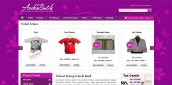 Template Website Toko Online AnekaButik Berbasis Php MySql