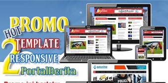 Promo Template Website Portal Berita Murah