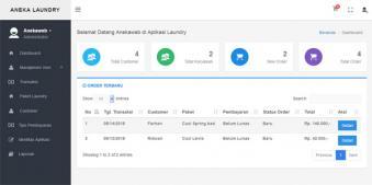 Aplikasi Laundry Online Berbasis Web dengan Php dan Mysql