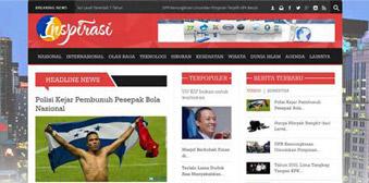 """""""Inspirasi"""" Template Website Responsive Portal Berita"""