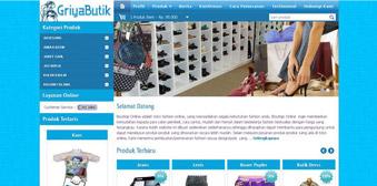 Template Website Toko Online Griya Butik