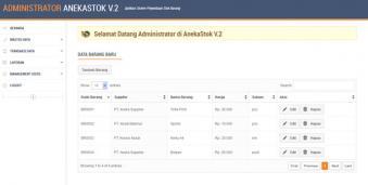 Aplikasi Penyediaan Stok Barang V.2 Berbasis Web dengan Php dan Mysql